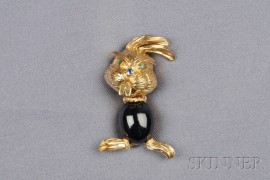18kt Gold and Gem-set Bunny Brooch, Kutchinsky