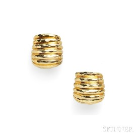 18kt Gold Earclips, Henry Dunay