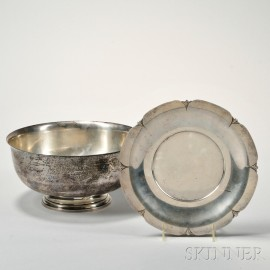 Two Pieces of American Silver Tableware