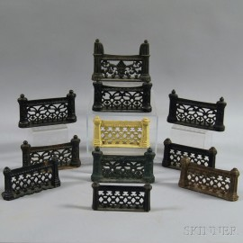 Eleven Cast Iron Fence-form Boot Scrapes