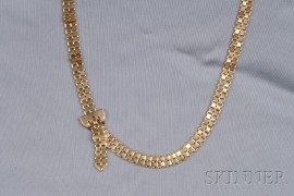 18kt Rose Gold Buckle Necklace