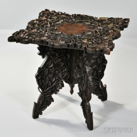 Anglo-Indian Carved Hardwood Table