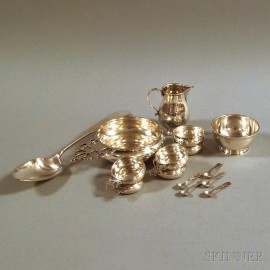 Small Group of American Sterling Silver Tableware and Flatware
