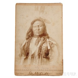 """Photograph of Hunkpapa Chief """"Rain in the Face"""" by George W. Scott (American, 1854-1910)"""