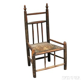 Turned Plank-seat Side Chair