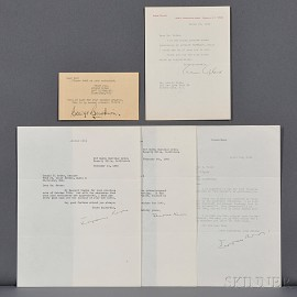 American Composers of the 20th Century, Five Signed Letters and Cards.
