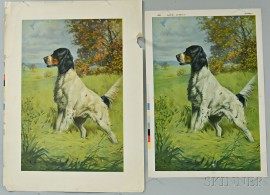 Four Forbes Lithograph Co. Letterpressed Press Sheets of Setters.     Estimate $50-100
