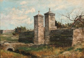 Frank Shapleigh (American, 1842-1906)      The City Gate, St. Augustine