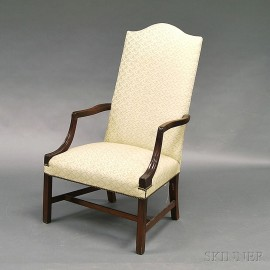 Chippendale Mahogany Lolling Chair