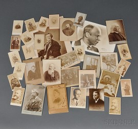 European Composers and Musicians, Late 19th and Early 20th Century, Carte-de-visites and Photographs, Some Signed.