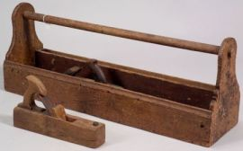 Wooden Tool Box and Two Wood Planes