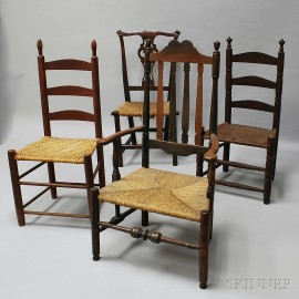 Four Country Chairs
