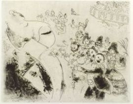Marc Chagall (Russian/French, 1887-1985)  Plate from LES AMES MORTES