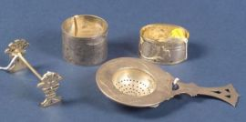 Four Russian Silver Tablewares