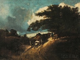 Jules Dupré (French, 1811-1889)      The Haywagon