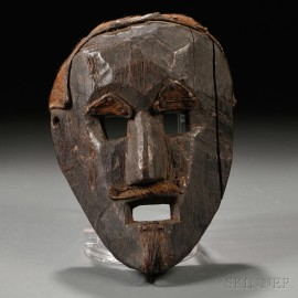 Wooden Mask of a Man