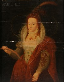 British School, 18th Century Style      Queen Elizabeth I