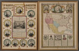 Presidents of the United States   [and] Ornamental Map of the United States and Mexico