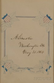Lincoln, Abraham (1809-1865) Autograph Sentiment, 31 May 1864.