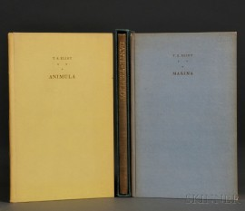 Eliot, Thomas Stearns (1888-1965) Three Signed Limited Edition Titles.