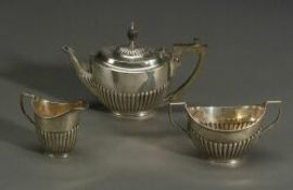 George V Three-Piece Silver Tete-a-Tete