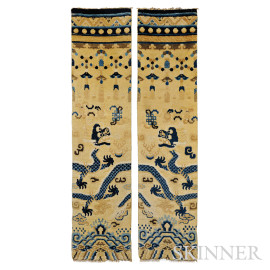 Pair of Lamaist Pillar Rugs