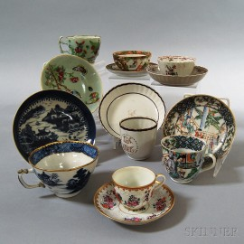 Fourteen Chinese Export Porcelain Cups and Saucers.     Estimate $200-300