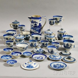 Approximately Thirty-two Pieces of Canton Porcelain