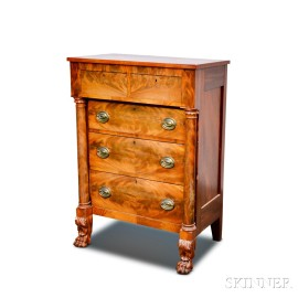 Classical Carved Mahogany Chest of Drawers