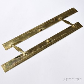 Large Brass Navigational 18-inch Parallel Rule