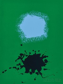 Adolph Gottlieb (American, 1903-1974)      Blues on Green