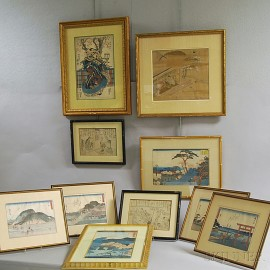 Ten Japanese Prints and Paintings