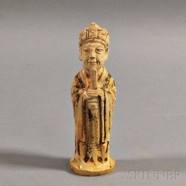 Qingbai-glazed Pottery Figure of an Official