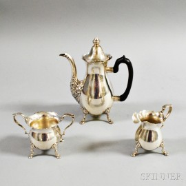 Sterling Silver Demitasse Set with Assorted Flatware
