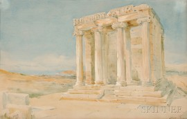 Henry Bacon (American, 1839-1912)      The Temple of Athena Nike, Athens