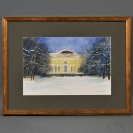 Frank Krautcuk (American, 20th/21st Century)    Alexander Palace in Winter