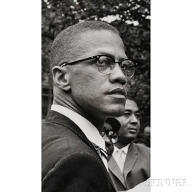 Malcolm X (1925-1965) Fourteen Photographs Taken by Robert Haggins (1922-2006)