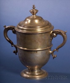 Large Victorian Silver Covered Urn