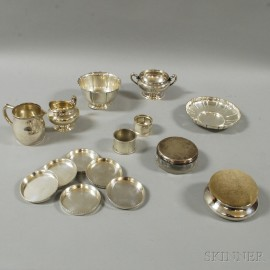Group of Sterling Silver Tableware and Personal Items