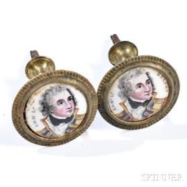 Admiral Lord Nelson Enamel Mirror Supports