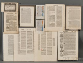 Incunabula and Early Printed Book Leaves.