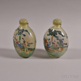 Pair of Interior-painted Snuff Bottles