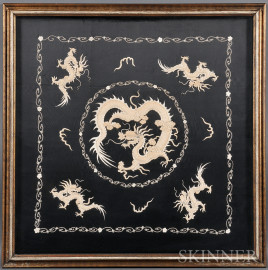 Embroidered Dragon Cushion Cover