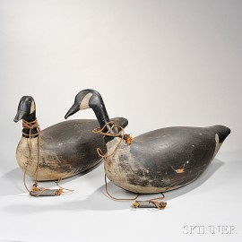 Two Large Canada Goose Decoys