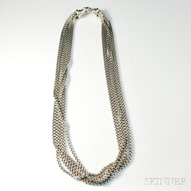 David Yurman Six-strand Sterling Silver Necklace