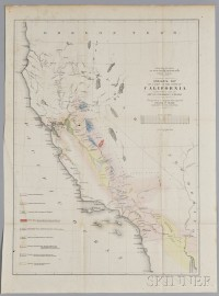 War Department Railroad Survey, Geological Map of a Part of the State of California Explored in 1853 by Lieut. R. S. Williamson