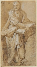 Italian School, 16th/17th Century      Standing Apostle or Evangelist Holding a Book