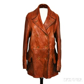 Abercrombie and Fitch Brown Leather Jacket