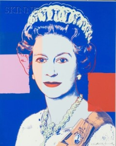 Sold for: $41,125 - Andy Warhol (American, 1928-1987)    Queen Elizabeth II  of the United Kingdom