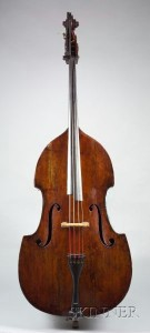 Sold for: $138,000 - Contrabass, c. 1770, Attributed to the Gagliano Family